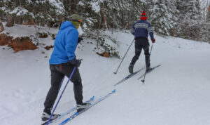 Cross Country SKiers at WinMan Trails
