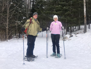 Snowshoers at WinMan Trails