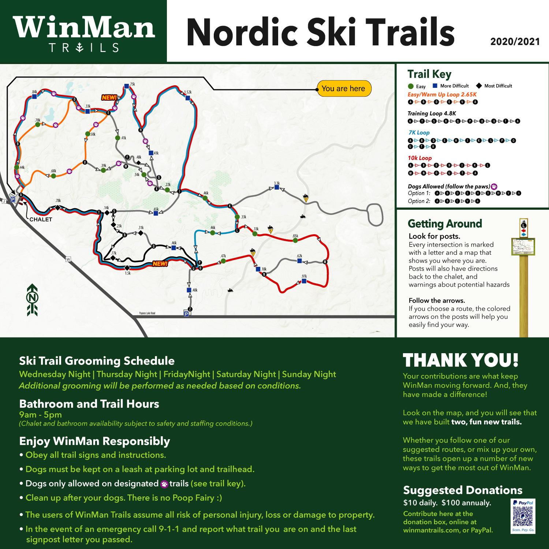 WinMan Cross Country Ski Trail Map